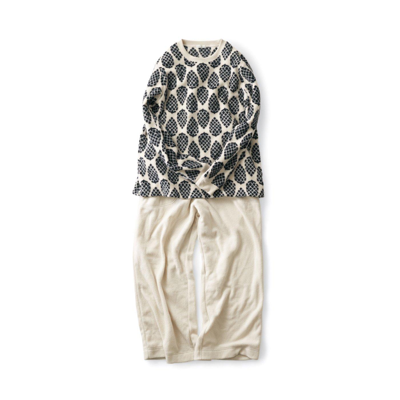 サニークラウズ フリースぼっくりのパジャマ〈レディース〉