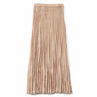 <フェリシモ>Aラインシルエットがキレイなプリーツスカート〈アンティークベージュ〉【送料無料】