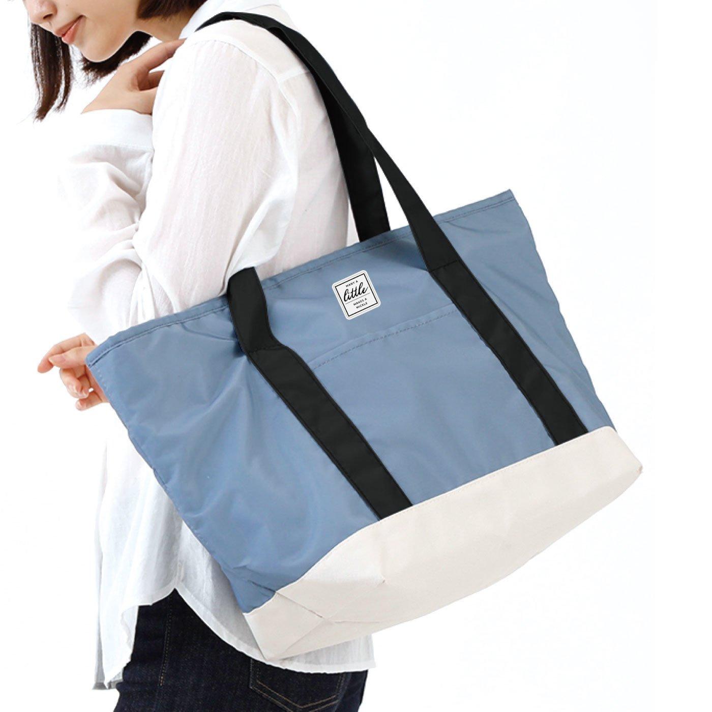 買い物にちょうどいいサイズ感 撥水保冷保温トートバッグ