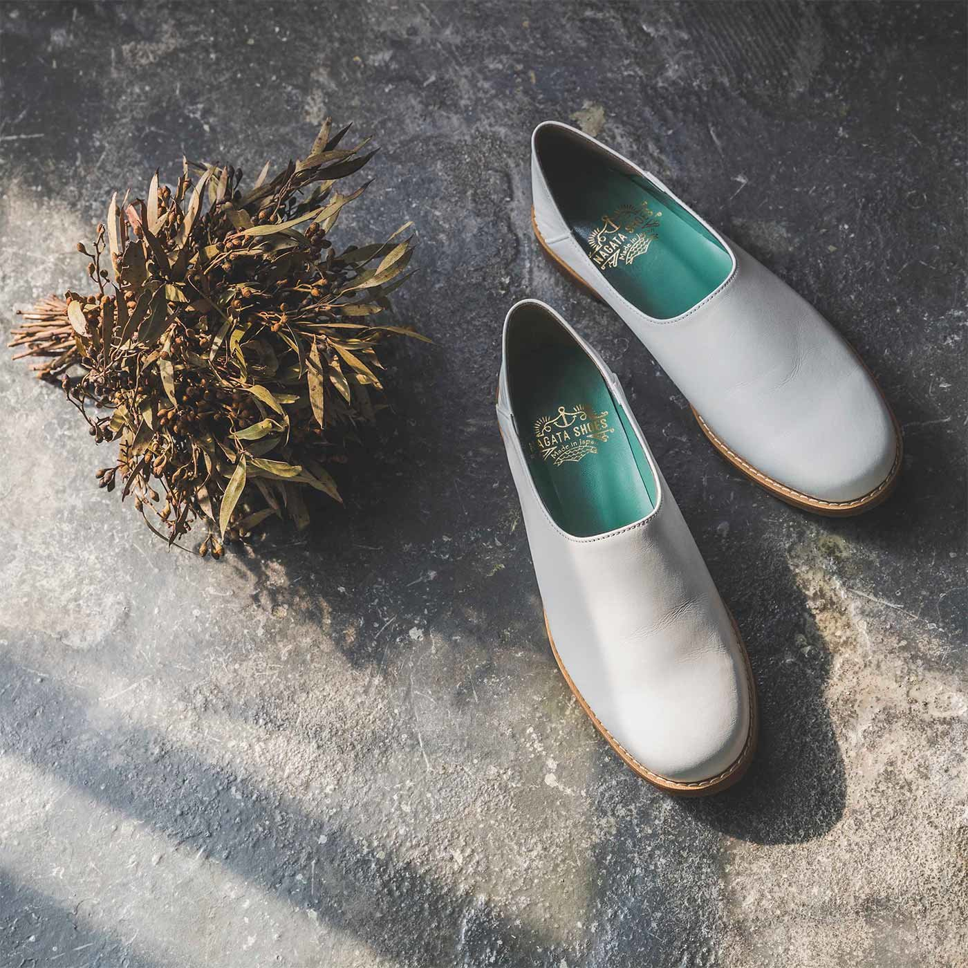 ファッションスタイリストと作った 職人本革のスタイリストシューズ〈ブラン〉[本革 靴:日本製]
