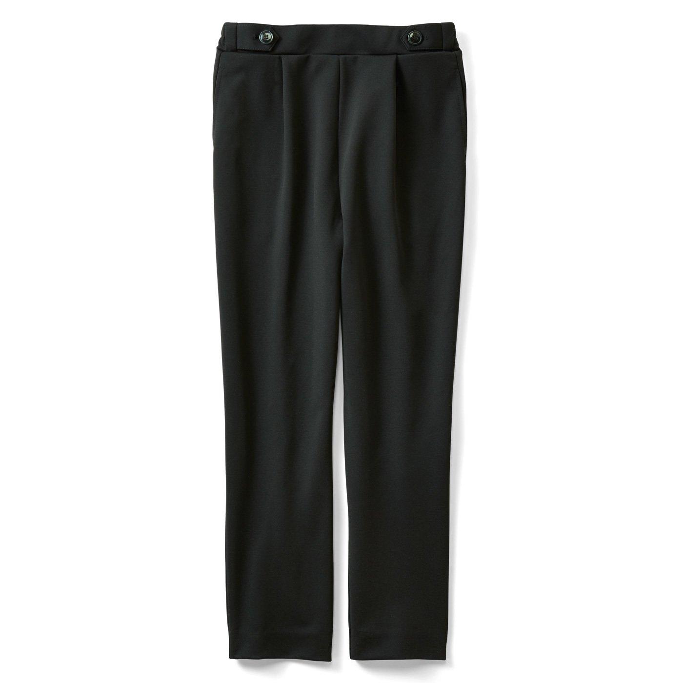 IEDIT[イディット] 接触冷感が快適な軽やかバレエフィット(R)パンツ〈ブラック〉
