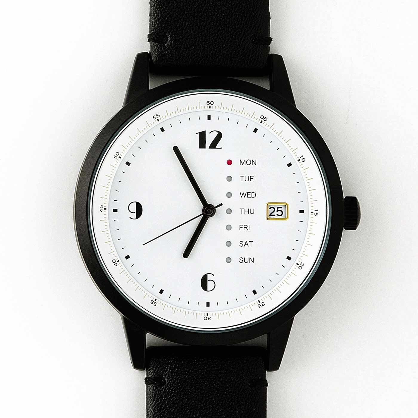 日付と曜日がわかる 大きな文字盤が見やすい腕時計の会