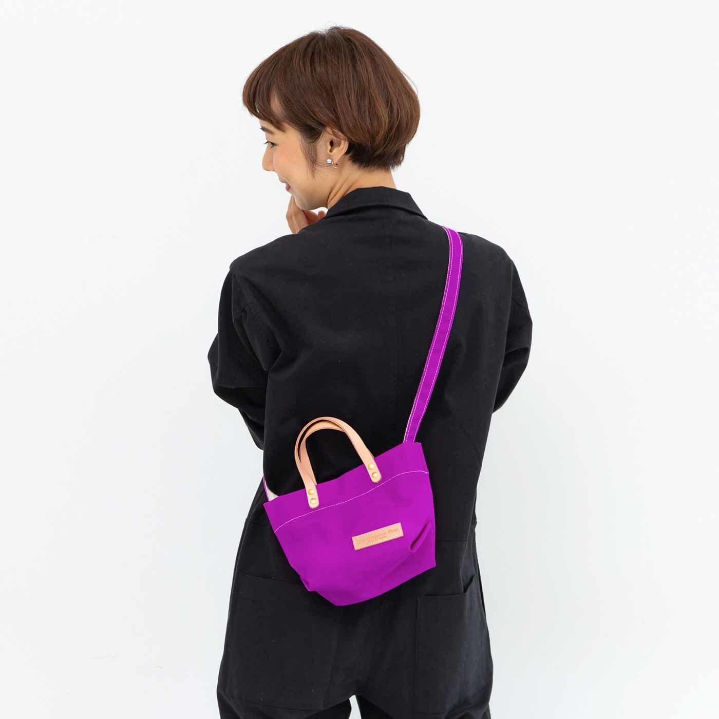 ミニサイズがうれしい 日本製のカラー帆布 ショルダートートバッグの会