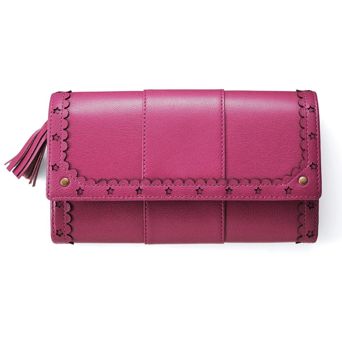 はまじとコラボ リブ イン コンフォート ずっと使いたい とっておきの本革長財布〈ピンク〉