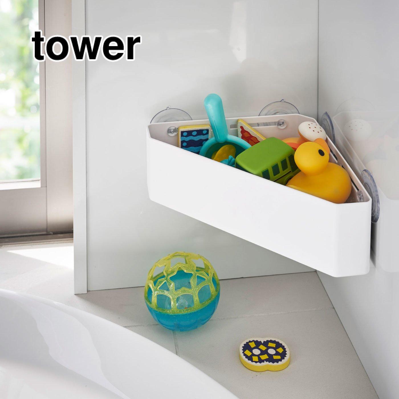 tower 吸盤バスルームコーナー