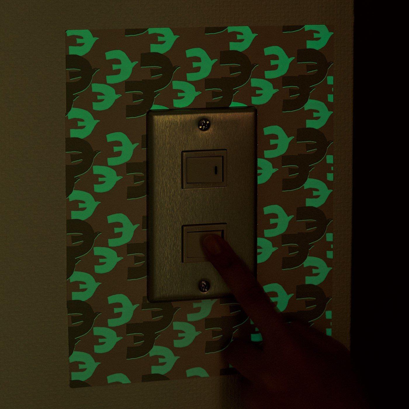 急な暗がりに便利な蓄光シール〈フォレスト〉の会