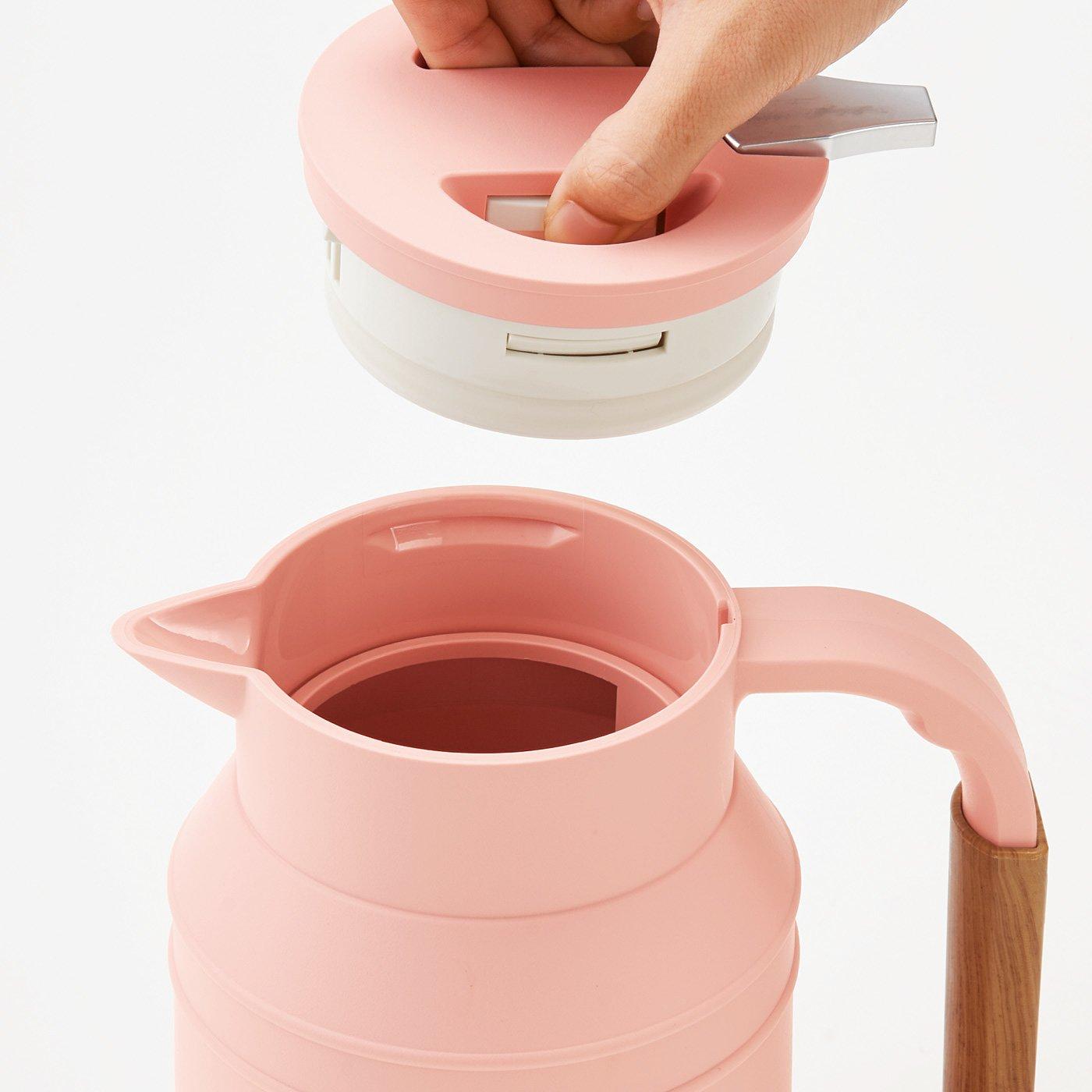 好みに合わせて温度設定OK ミルクタンクみたいな電気ケトル〈ピンク〉