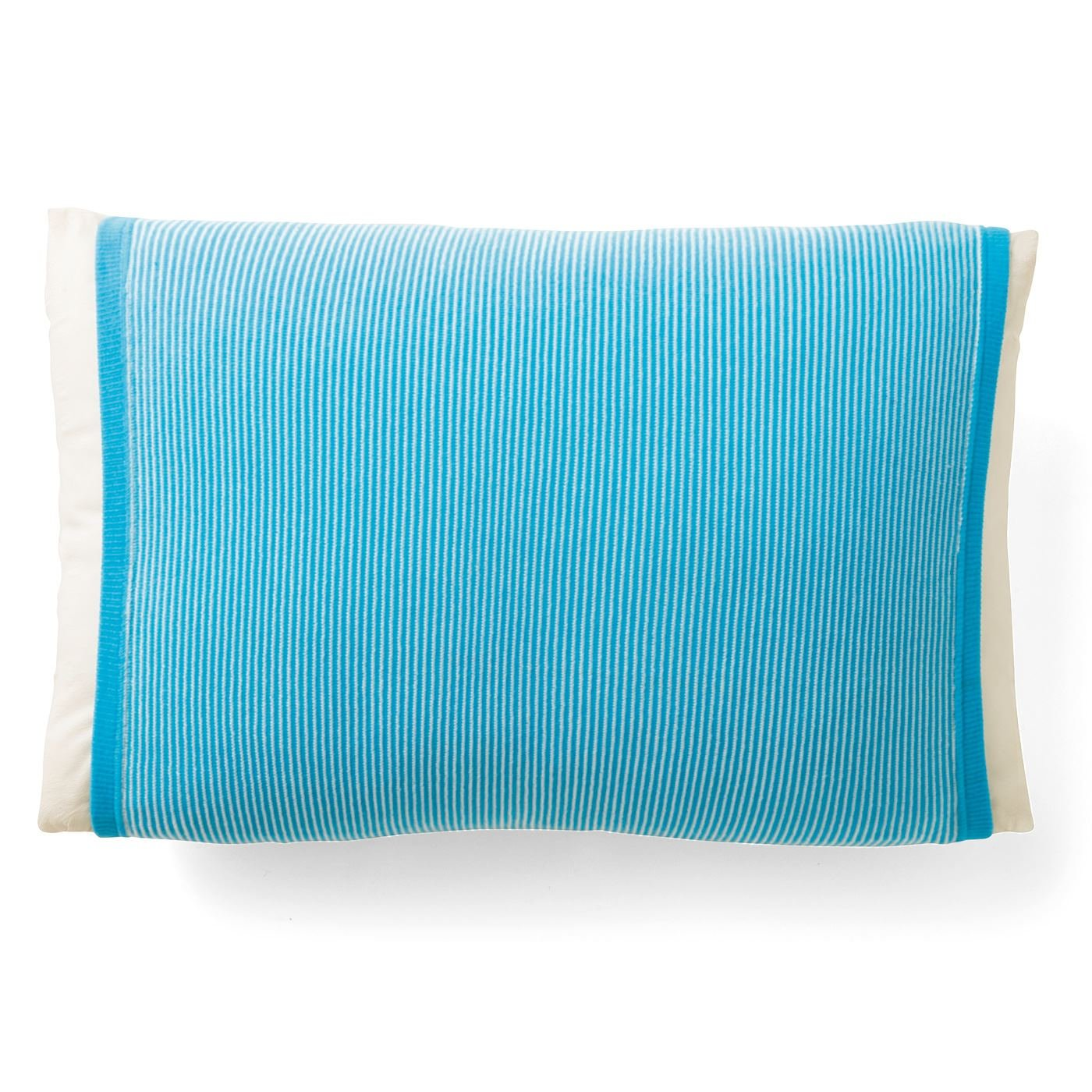 丸ごと包んで快適 接触冷感 涼やか色のボーダー枕カバーの会