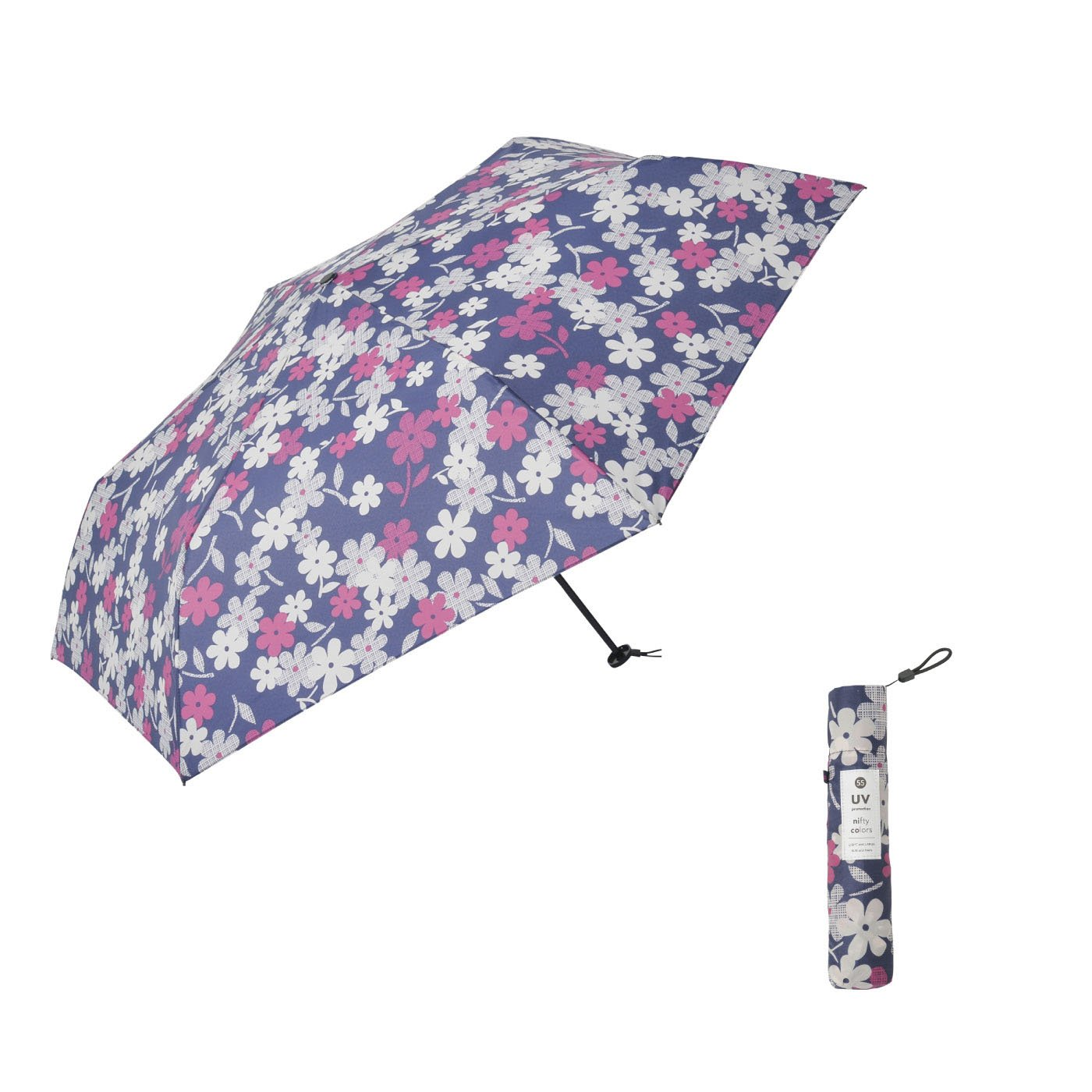 たたんでコンパクト!ちょっと大きめ55cmのマーガレット晴雨兼用傘
