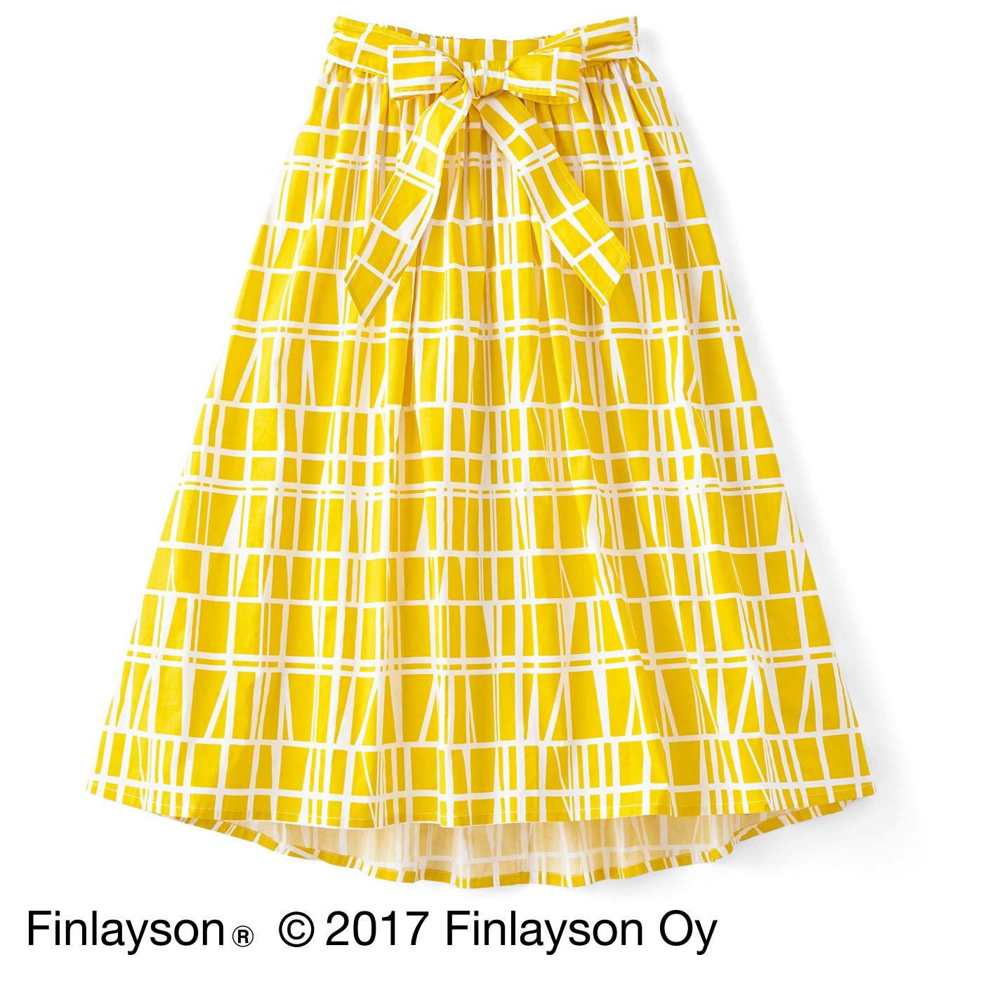 Finlayson フィンレイソン ウエストリボンの ふんわりシルエットスカート〈コロナ〉