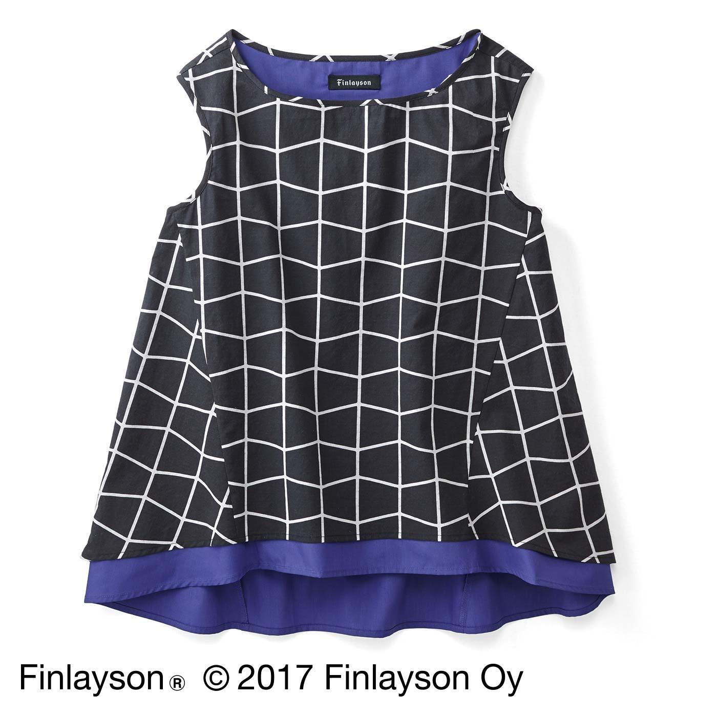 Finlayson フィンレイソン 色の重なりを楽しむノースリーブトップス〈ティーマ〉