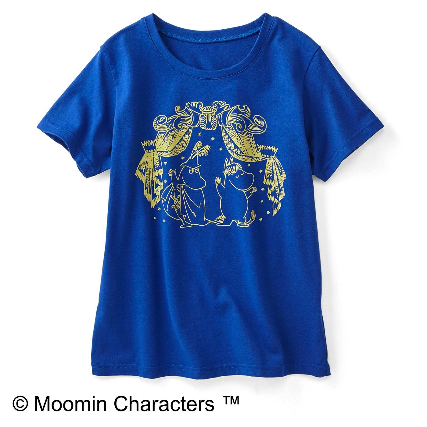 MOOMIN ムーミンと仲間たち シンプルプリントがかわいいTシャツ〈踊るふたり〉