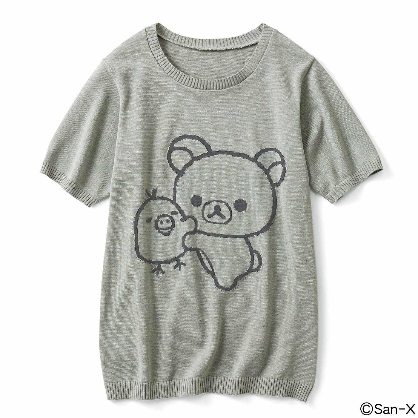コリラックマ&キイロイトリ ニットTシャツ