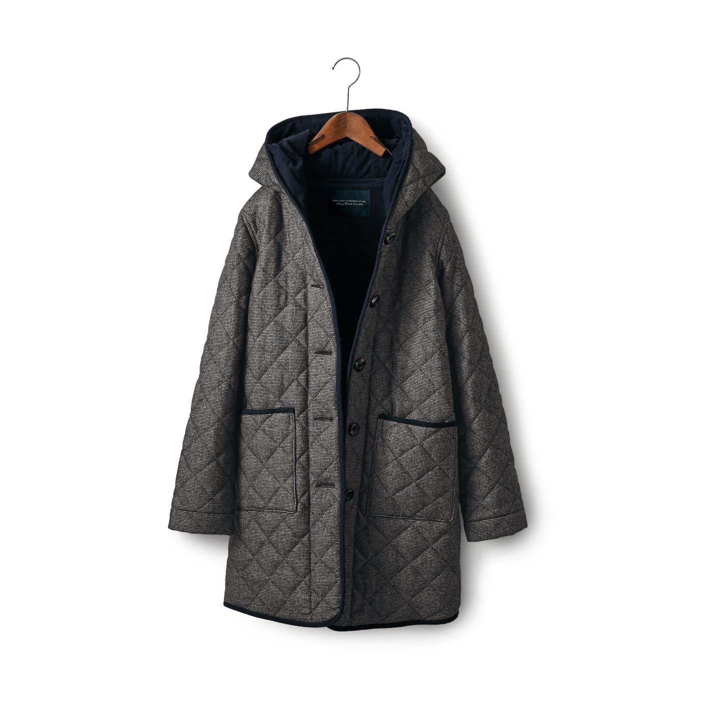 フェリシモ SUNNY CLOUDS ウールキルトコート〈レディース〉