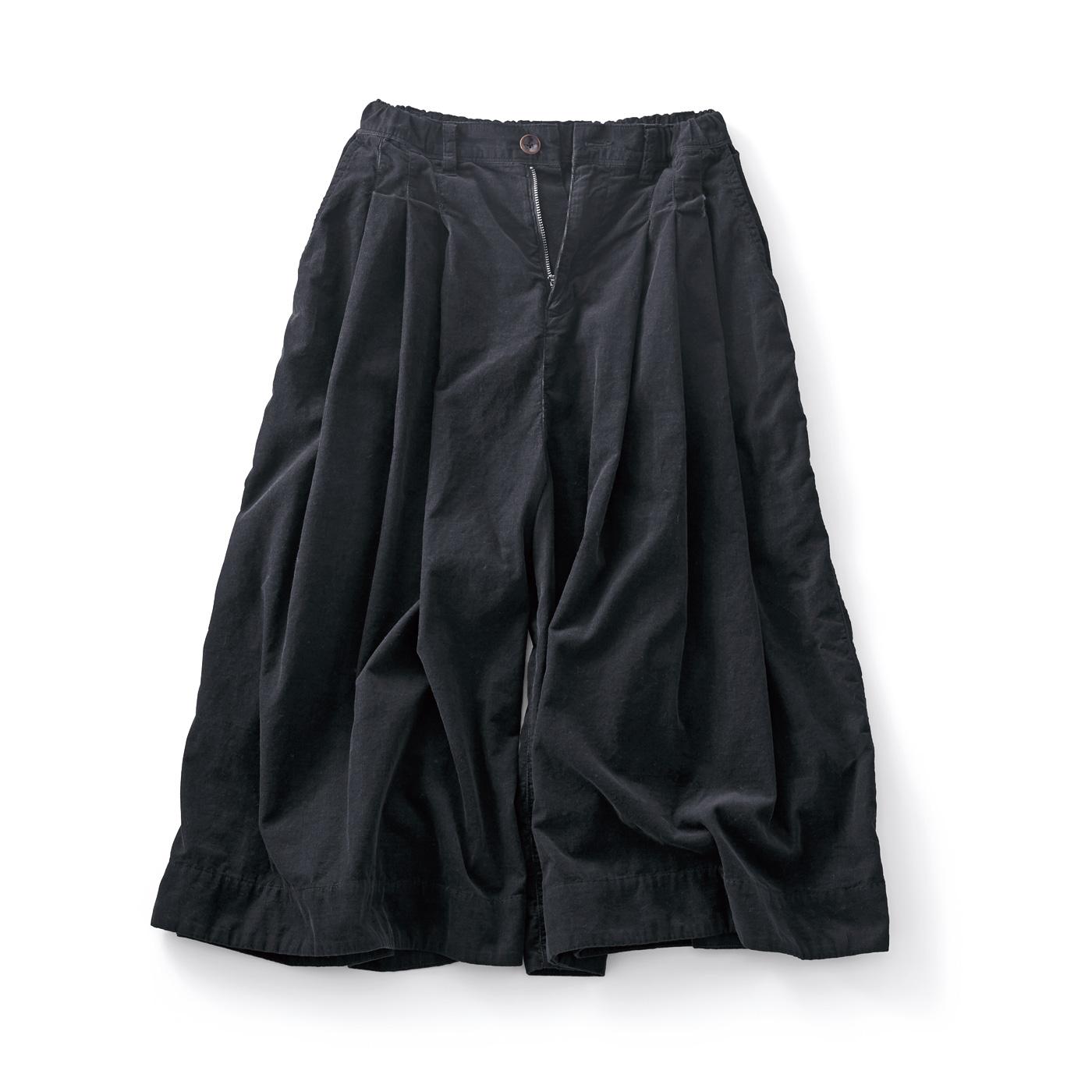 サニークラウズ コール天キュロパン〈レディース〉黒