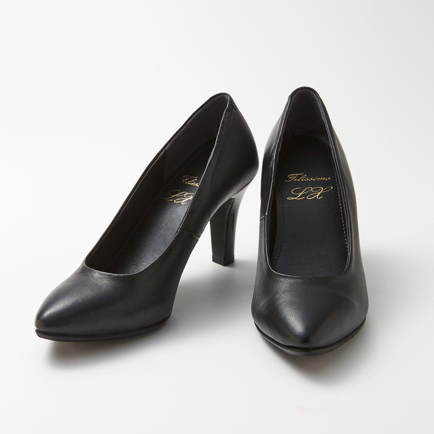 LX 3点サポートで美姿 毎日履きたくなる究極のハイヒール〈ブラック〉