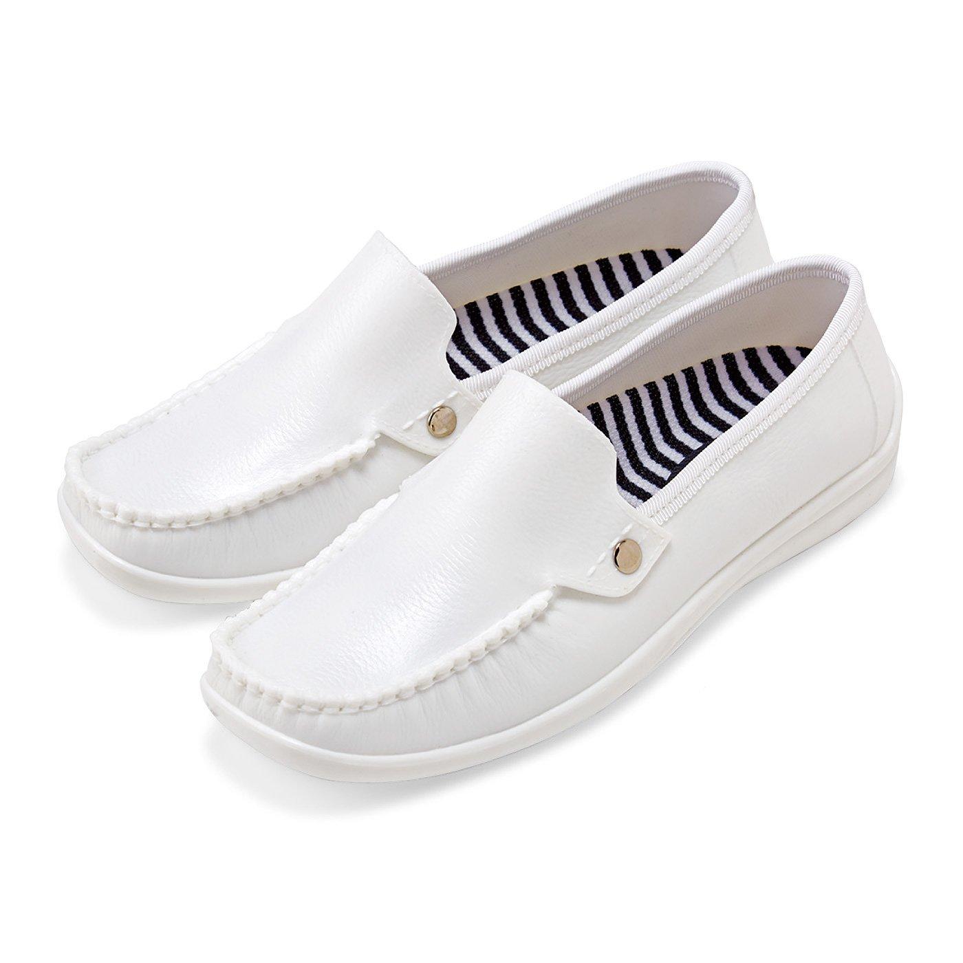 雨の日も気持ち晴れやか 革靴みたいな防水スリッポン〈ホワイト〉