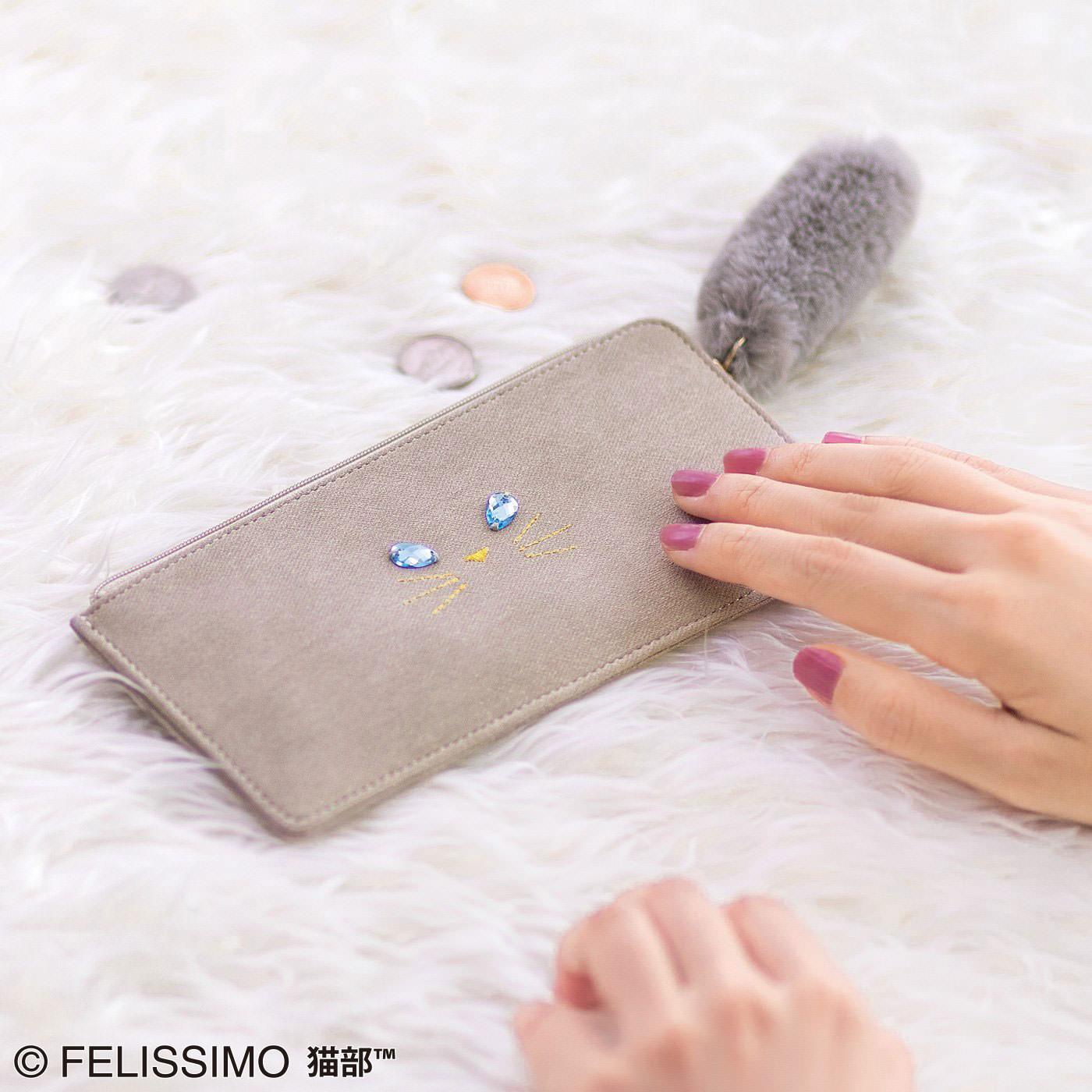 UP.de × 猫部 思わずなでちゃう! ラグドールさんみたいなやわらかぺたんこL字猫財布