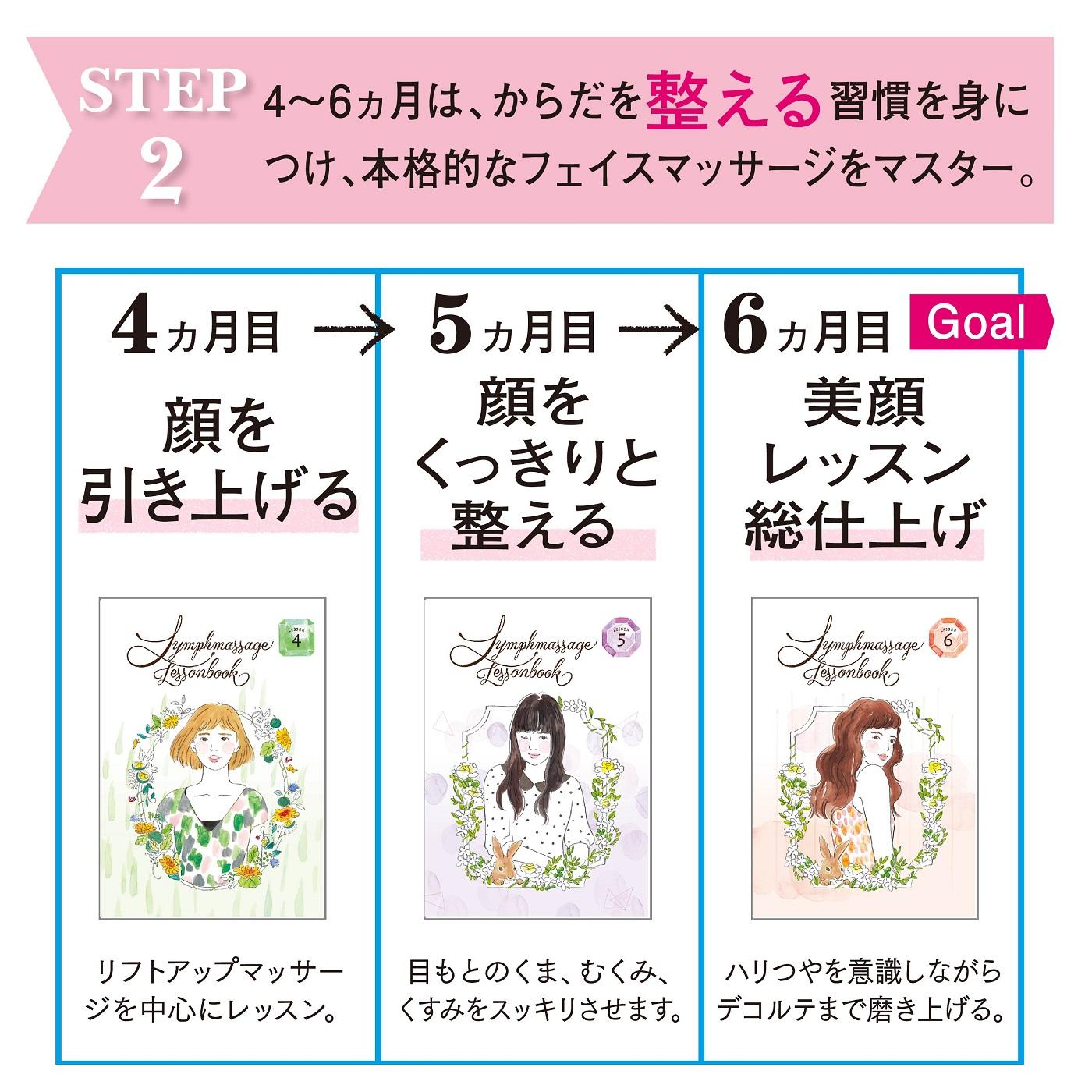 【STEP2】 整える習慣&本格的なフェイスマッサージをマスターする3ヵ月。