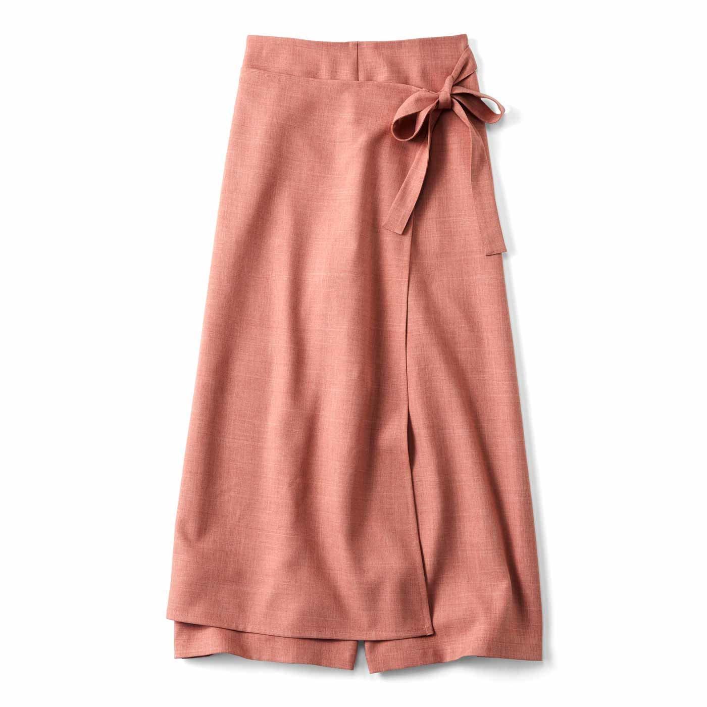 【3~10日でお届け】スカート見え ラップパンツ〈フラミンゴ〉