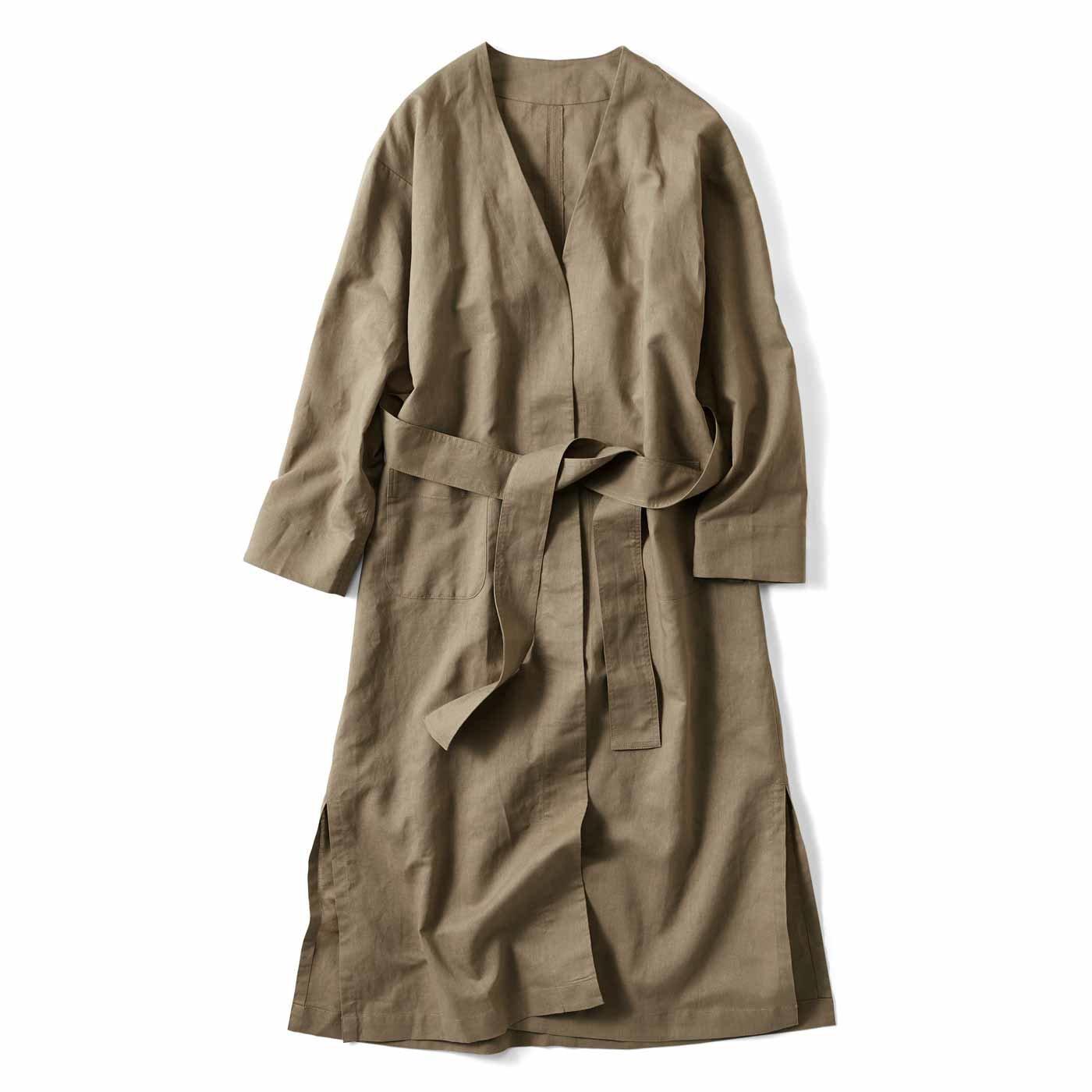 【3~10日でお届け】コットンリネンの軽やかはおりコート