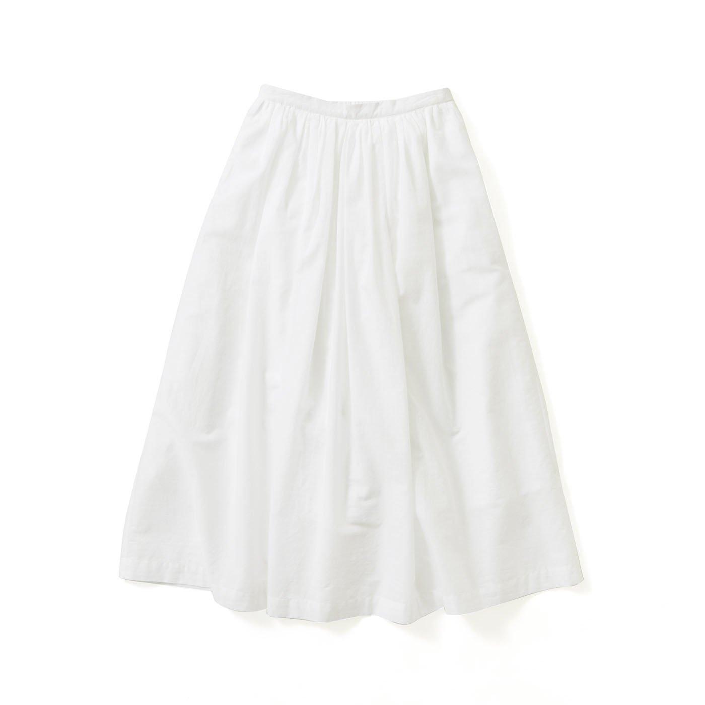 avecmoi ギャザースカート〈ホワイト〉