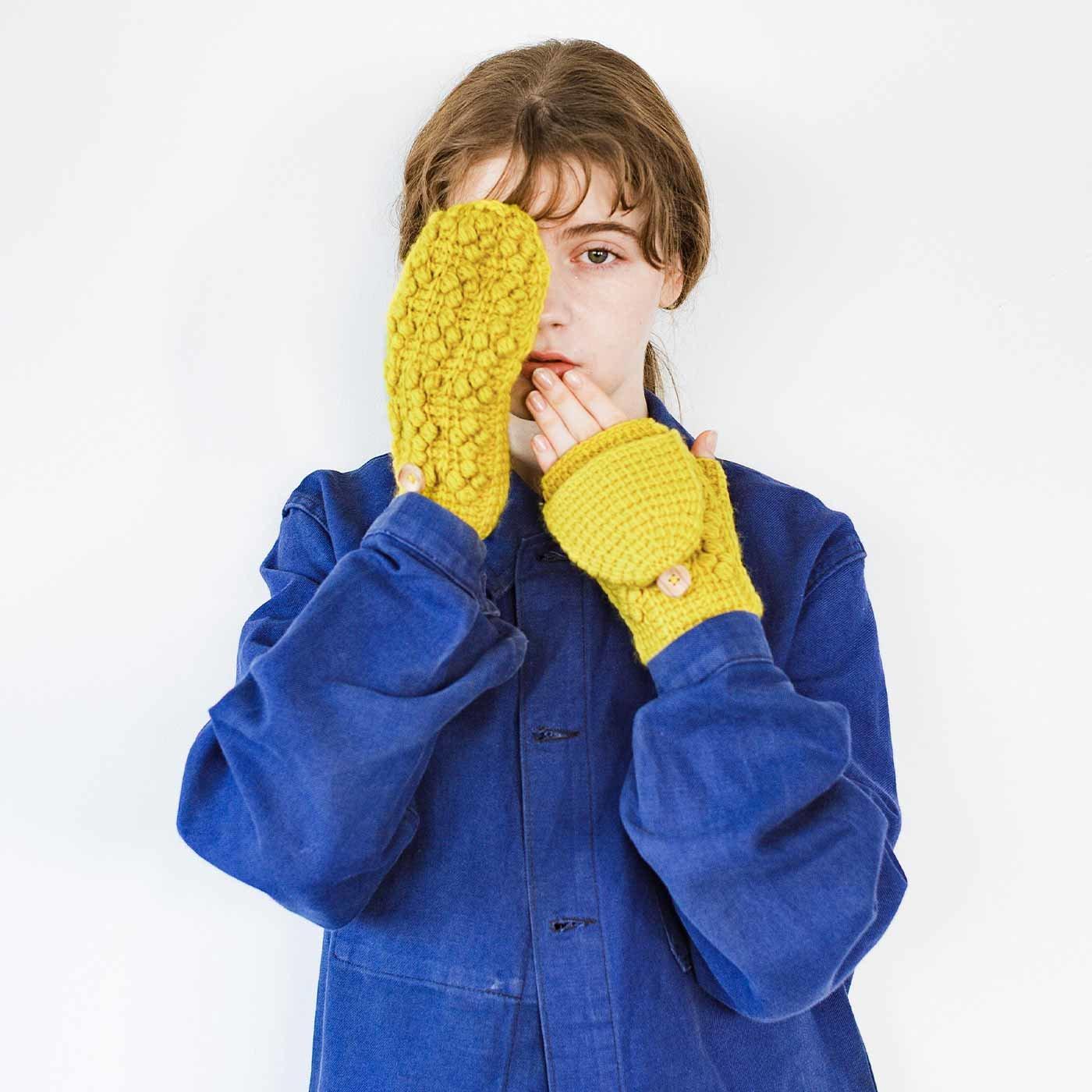 追いかけっこしながら編む ダブルフックが楽しいアフガン編みのミトンの会