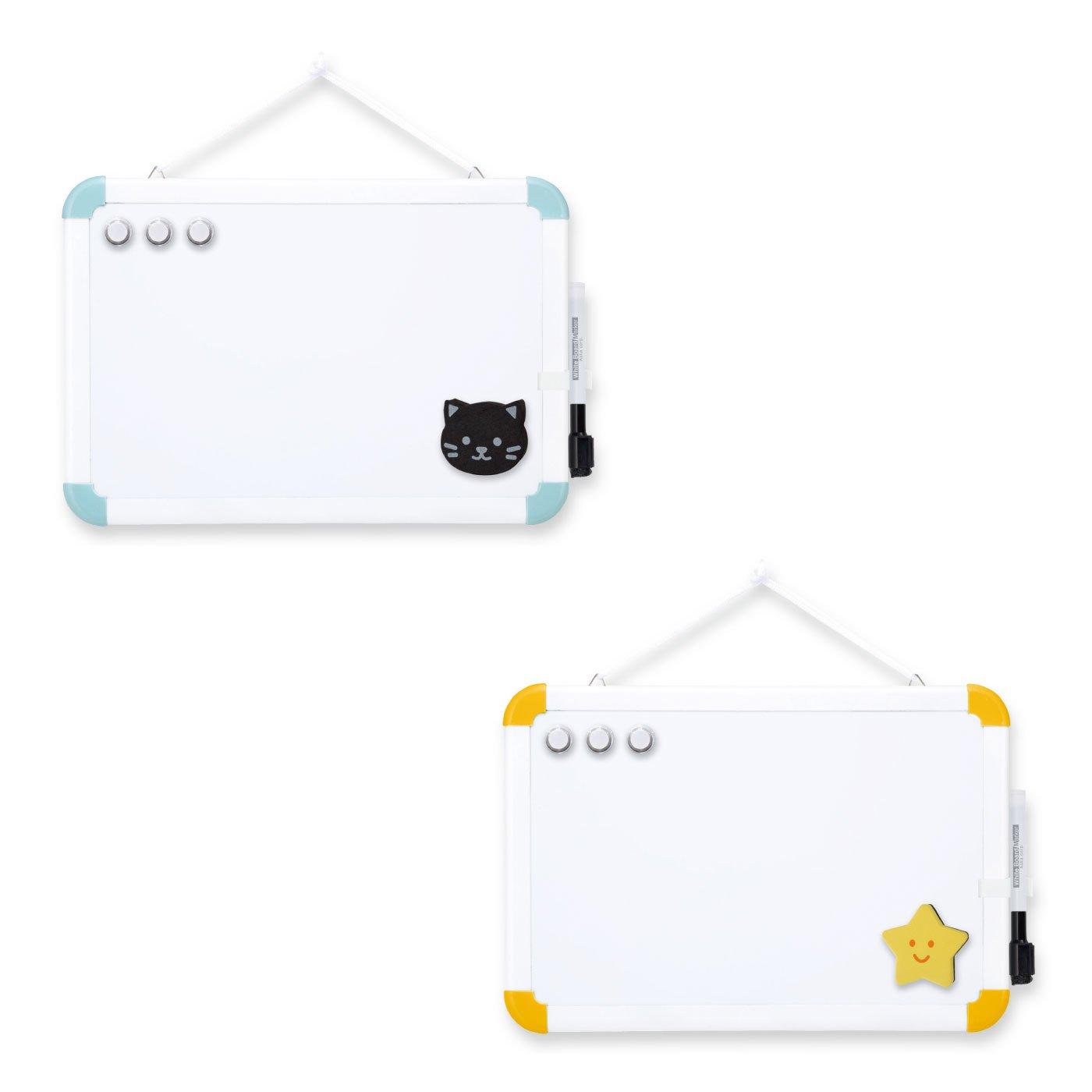 タテ・ヨコOK 磁石も使える金属製ホワイトボード