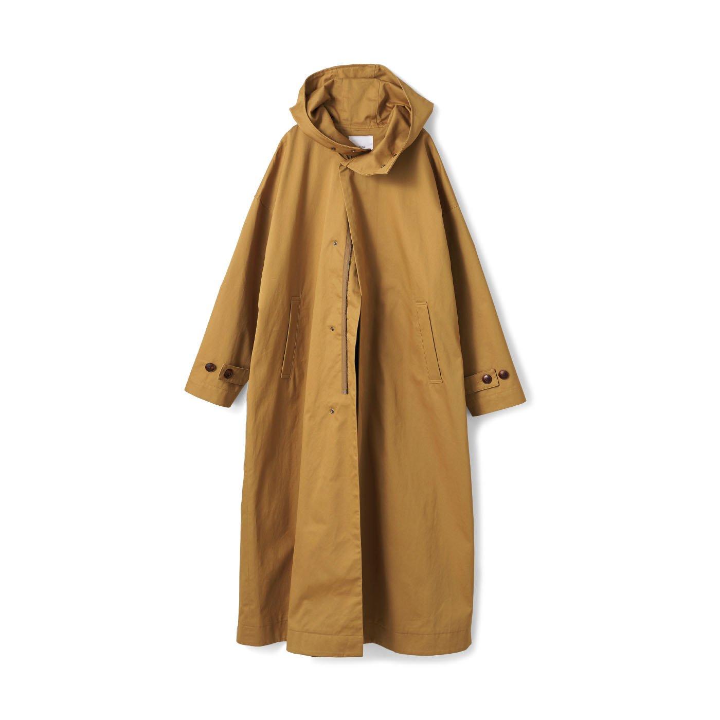 アヴェクモワ フードの付いたコート〈ベージュ〉