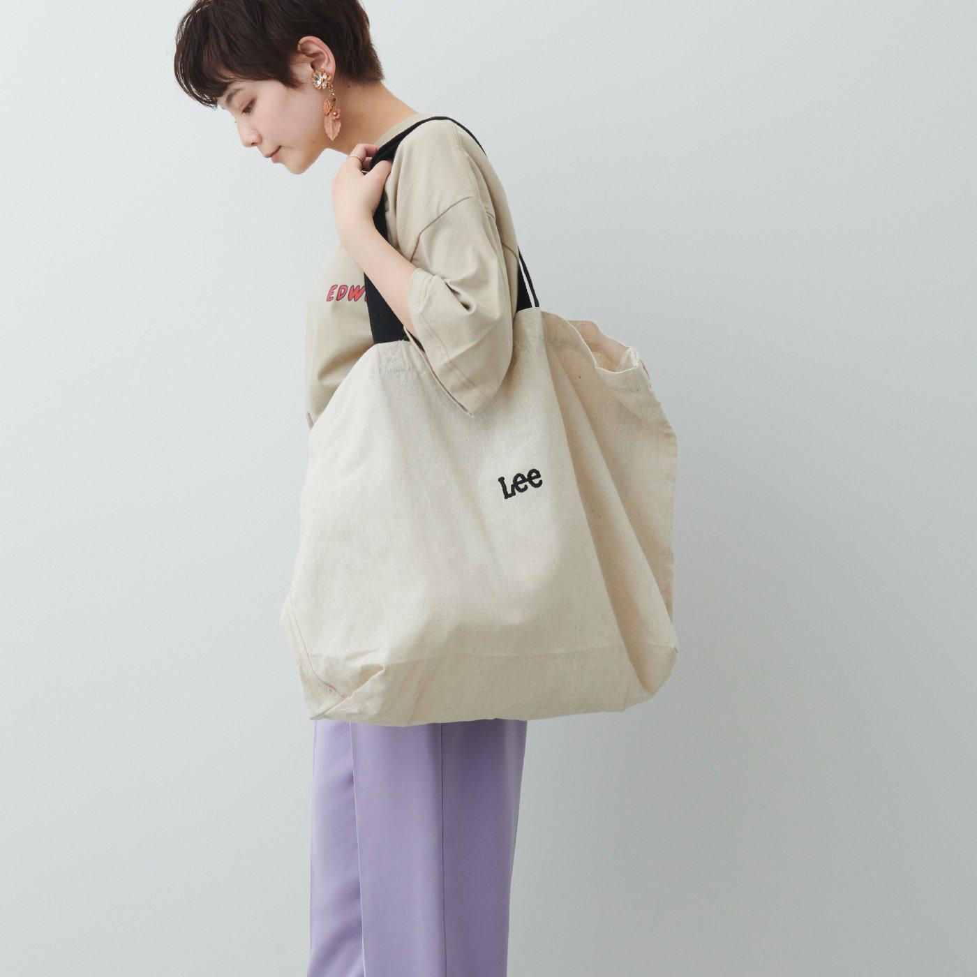 MEDE19F 〈SELECT〉 Lee 綿麻素材の2-WAYトートバッグ