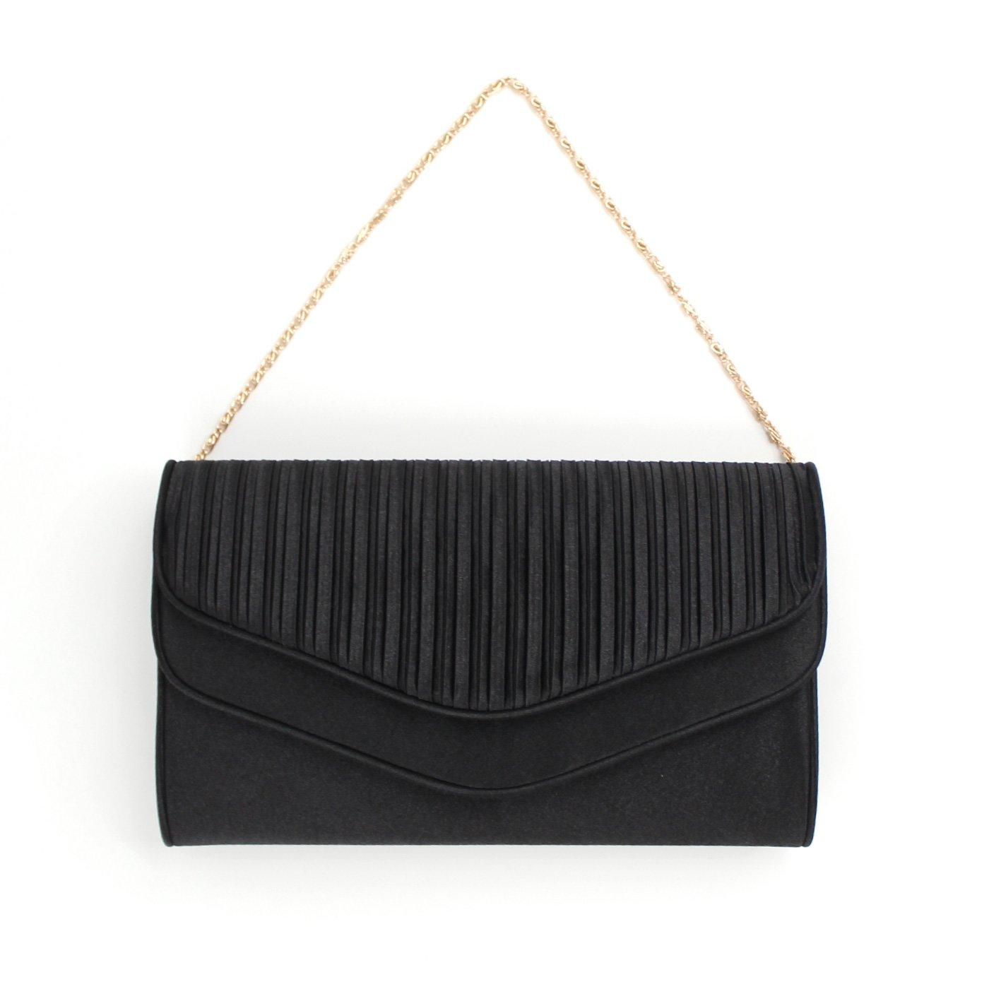 サテンダブルオープンバッグ〈ブラック〉