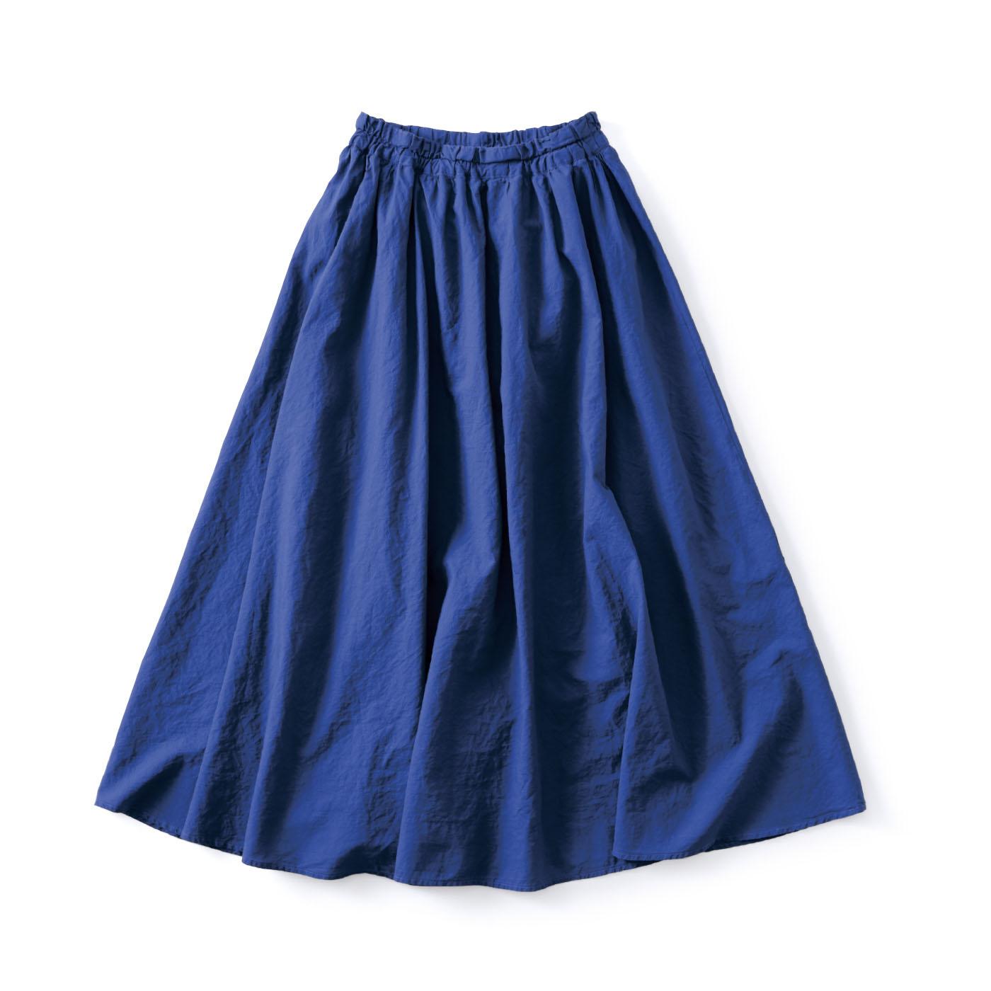 フェリシモ and myera 真っ青なギャザースカート