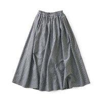 <フェリシモ>and myera ギンガムなギャザースカート【送料無料】