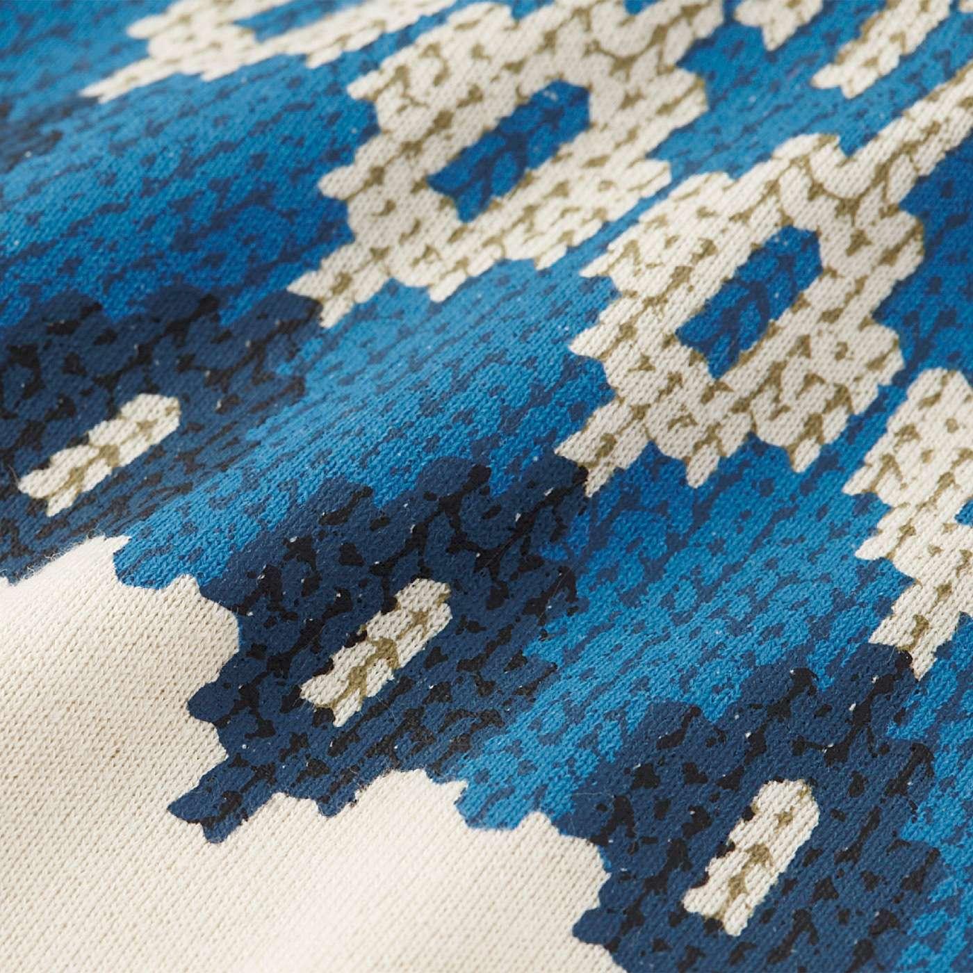 繊細な編み柄は、なんとプリント。本物のニットみたいだけど、お手入れらくちん。