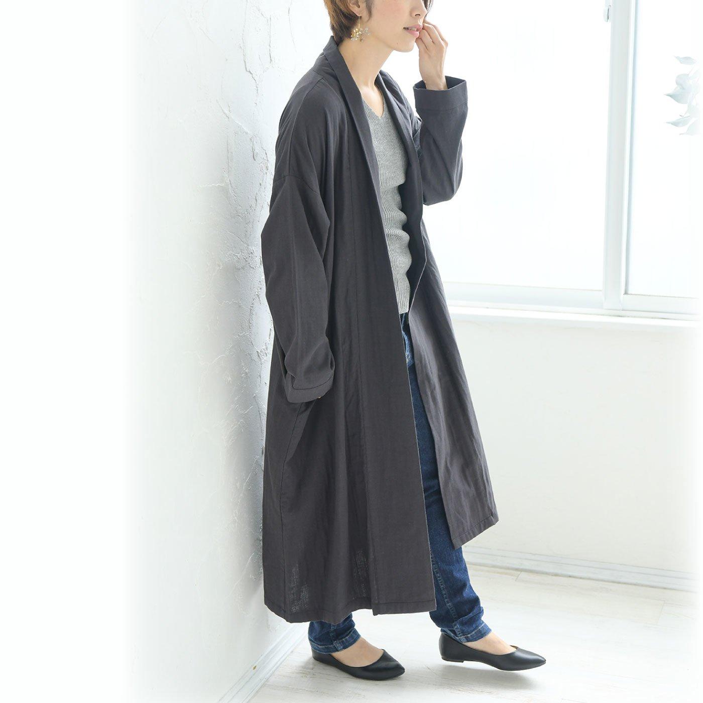 teMite さらっと羽織って大人の余裕感 トッパーロングジャケット
