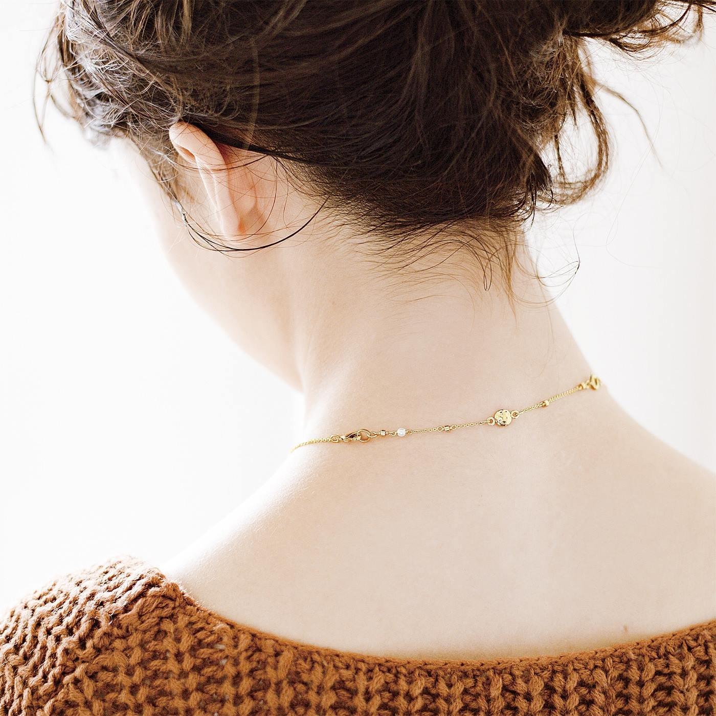 お気に入りのネックレスで血行促進 磁気アジャスター〈ゴールド〉
