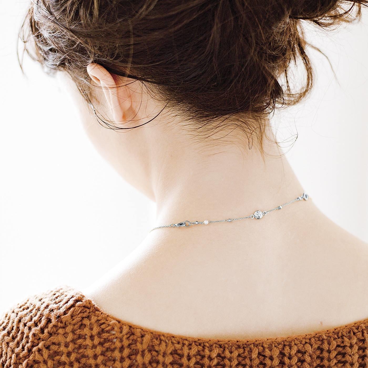 お気に入りのネックレスで血行促進 磁気アジャスター〈シルバー〉