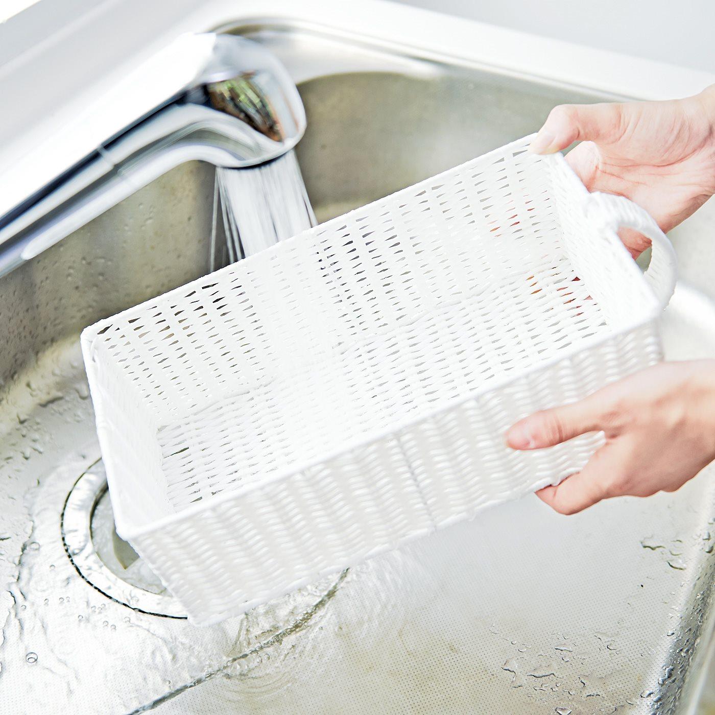 汚れたらサッと水洗いできます。
