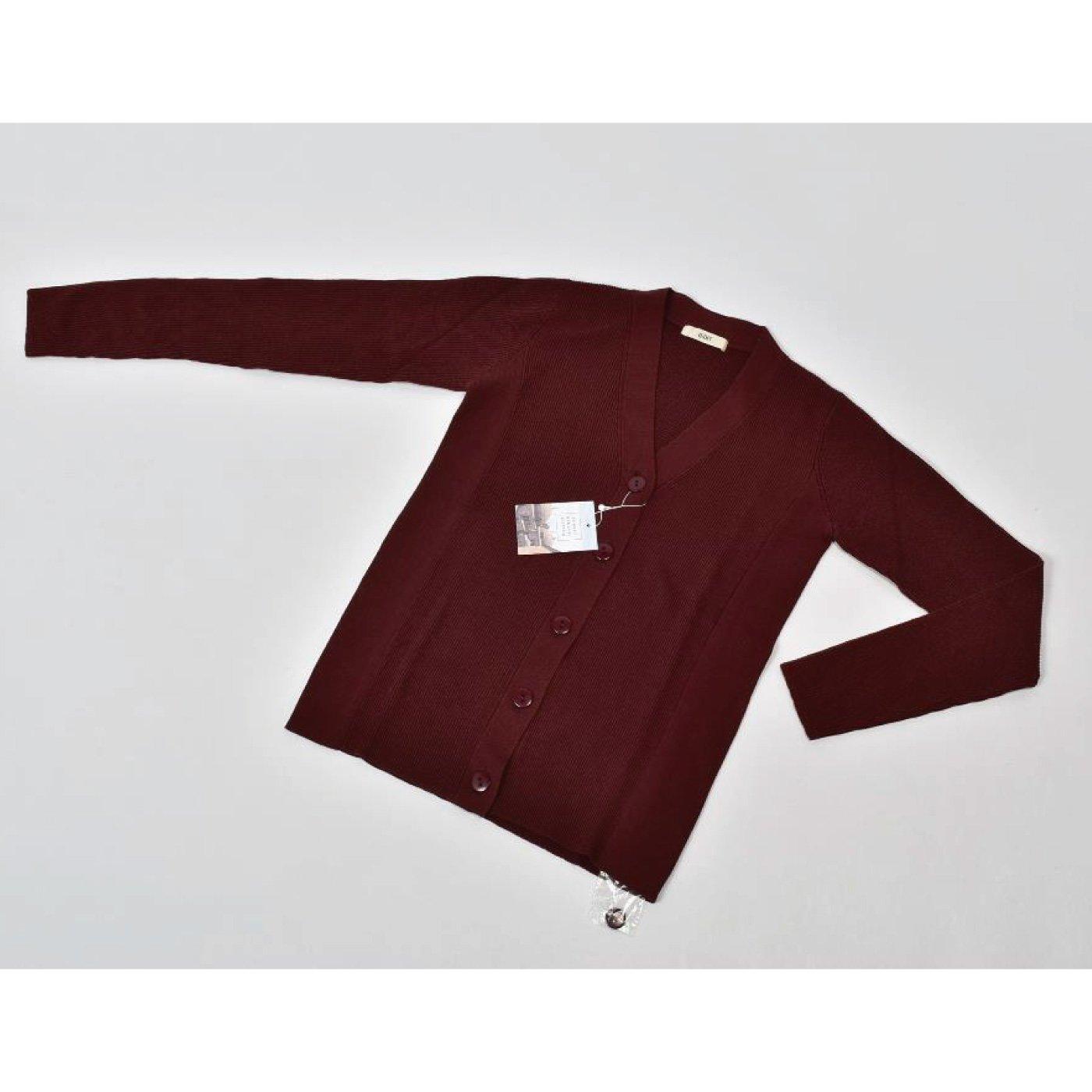 IEDIT[イディット] トルコオーガニックコットン Vネックニットカーディガン〈ブラウン〉