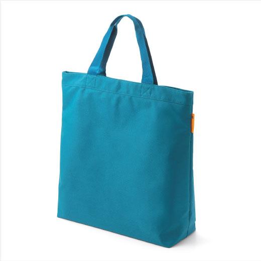 フェリシモ 大きな画材がきれいに収まる アーティストバッグ ブルー