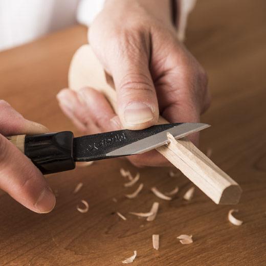 フェリシモ 木材がサクサク削れる カービングナイフ(左きき用)