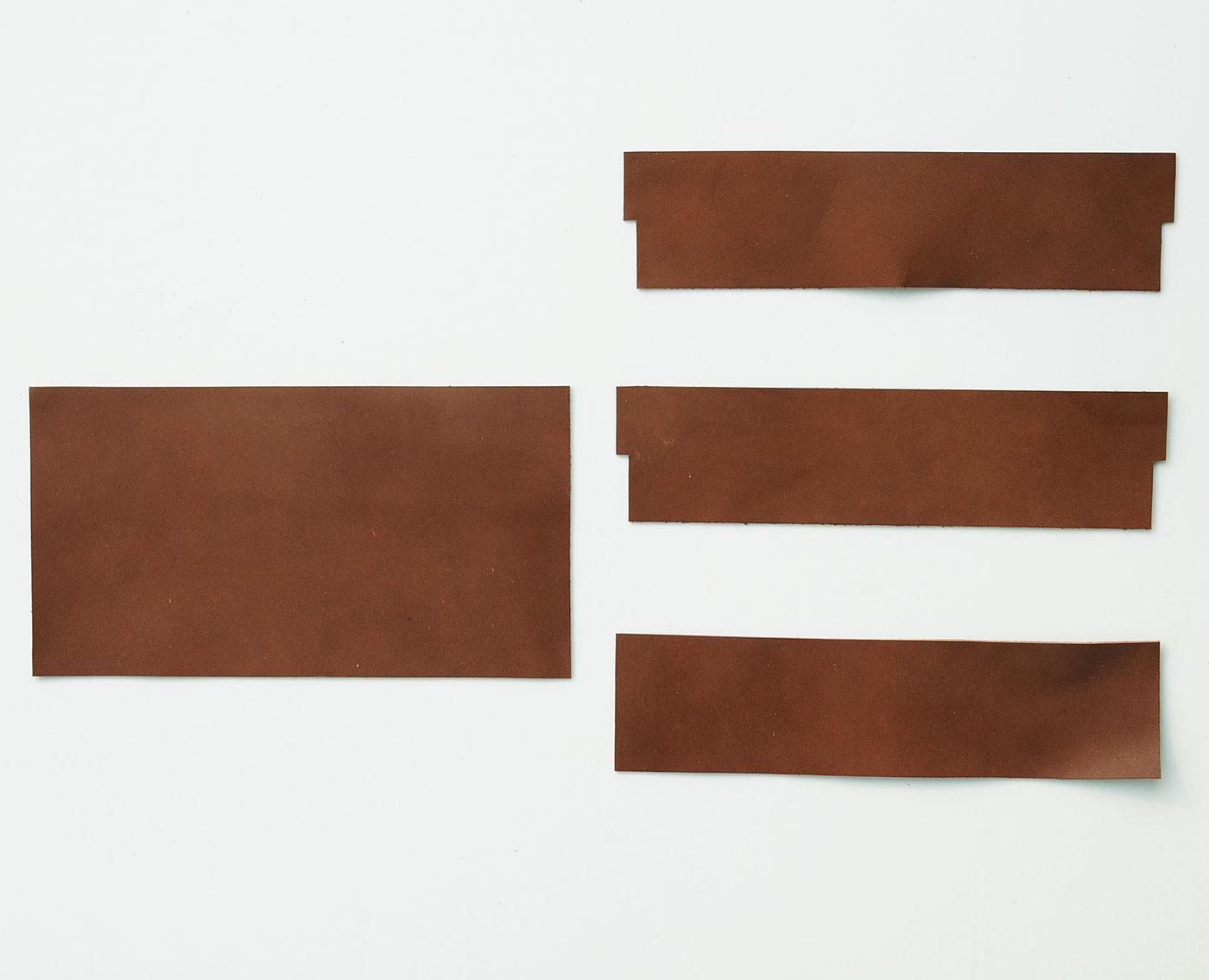 フェリシモ ウォレットショルダー作りレッスン 追加購入用 カードポケット革パーツ セット