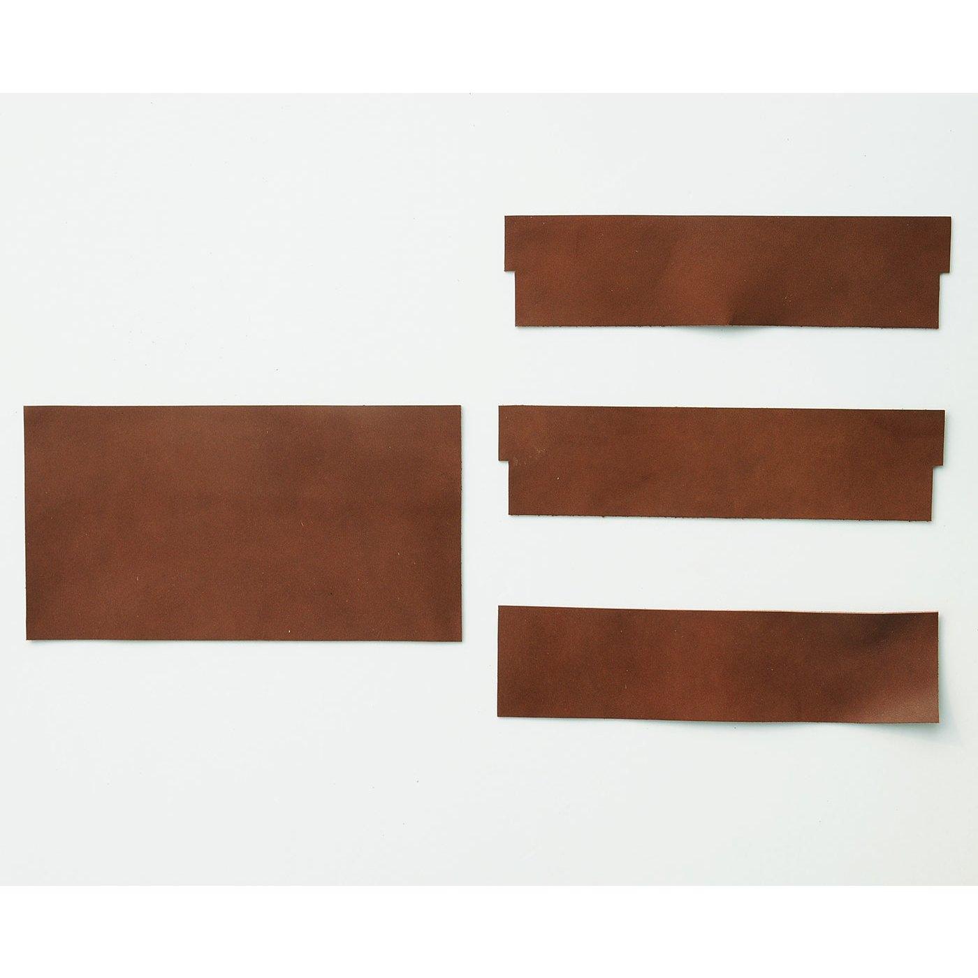 ウォレットショルダー作りレッスン 追加購入用 カードポケット革パーツ セット