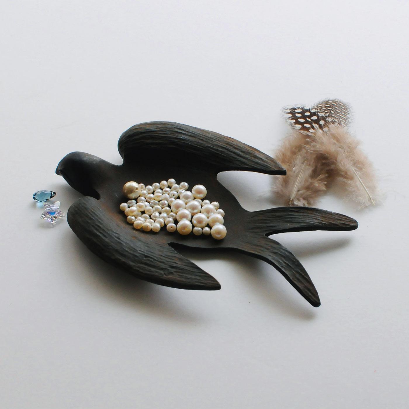 フェリシモ 華奢アクセサリーレッスンプログラム 追加購入用 淡水真珠・クリスタルガラス・羽根・コットンパールセット