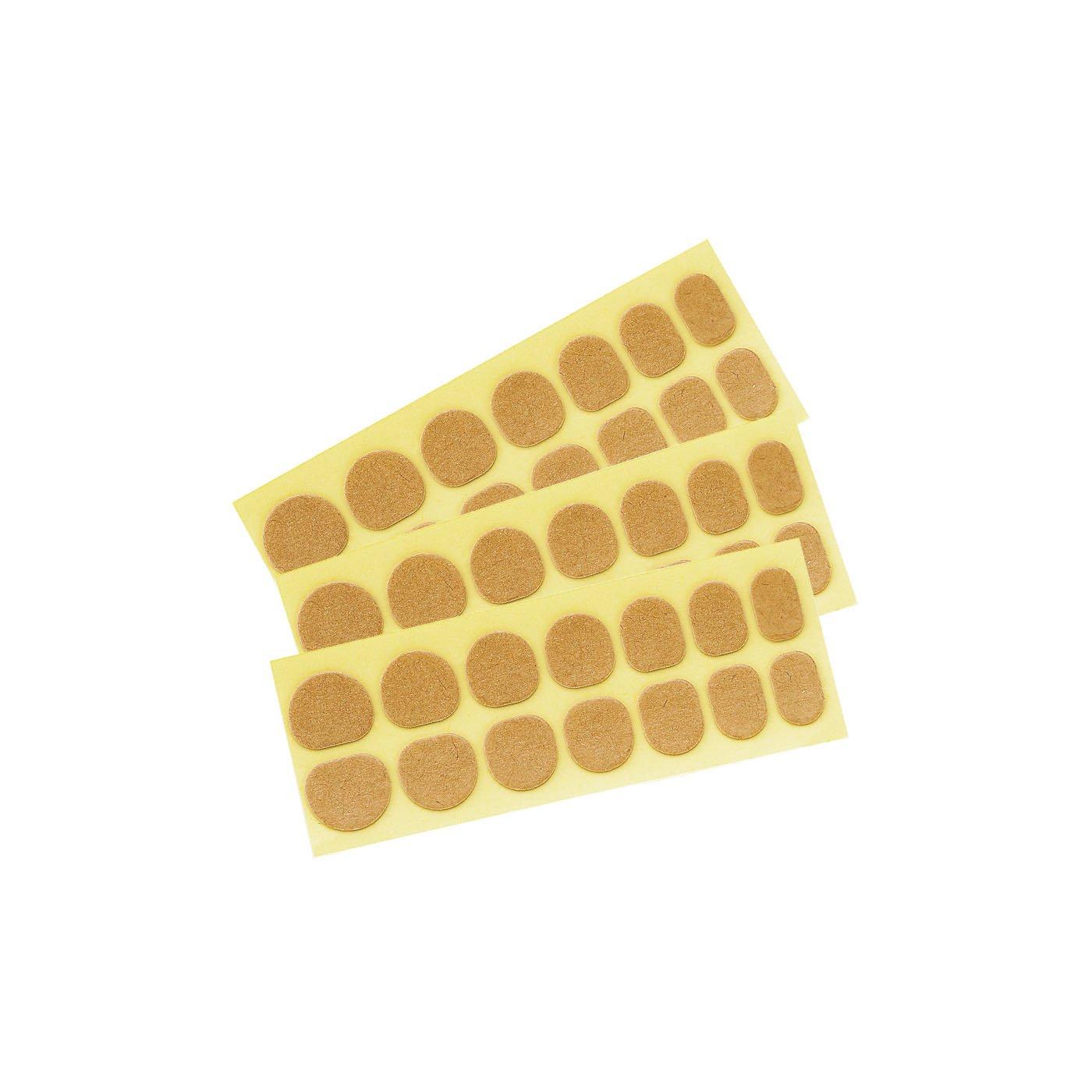 ジェルネイルレッスン 形状ぴったりチップ用 装着シール3シートセット(グミタイプ)