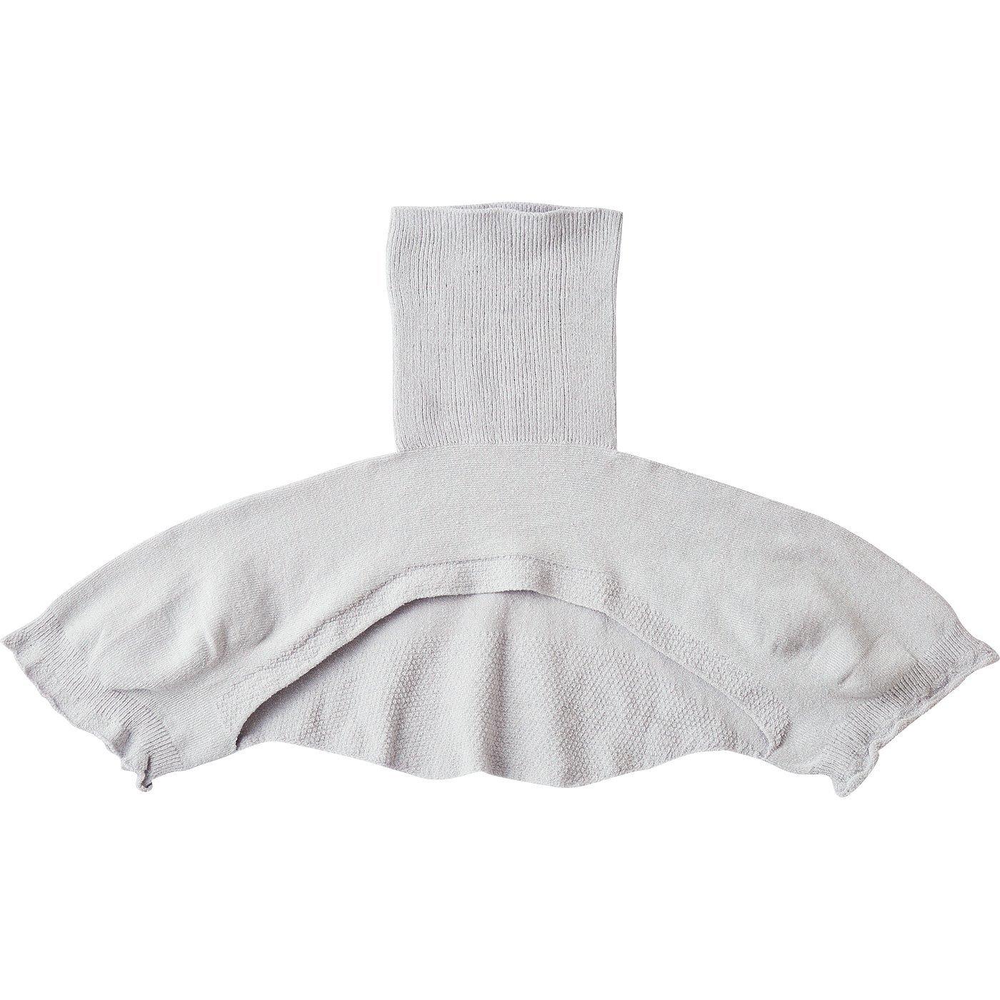 ホールガーメント(R)の解放感 絹混ニットの首肩ウォーマー〈グレー〉