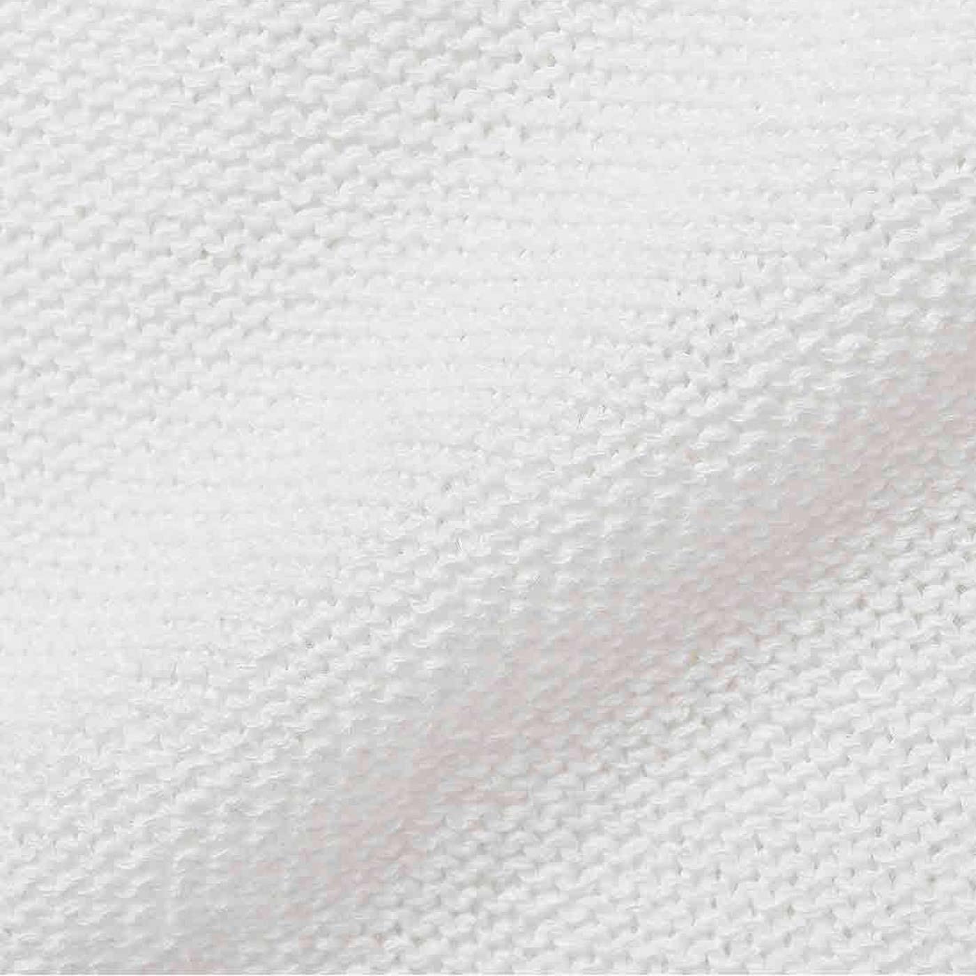 シャリッとドライで清涼感たっぷり。裏編み遣いもポイント。