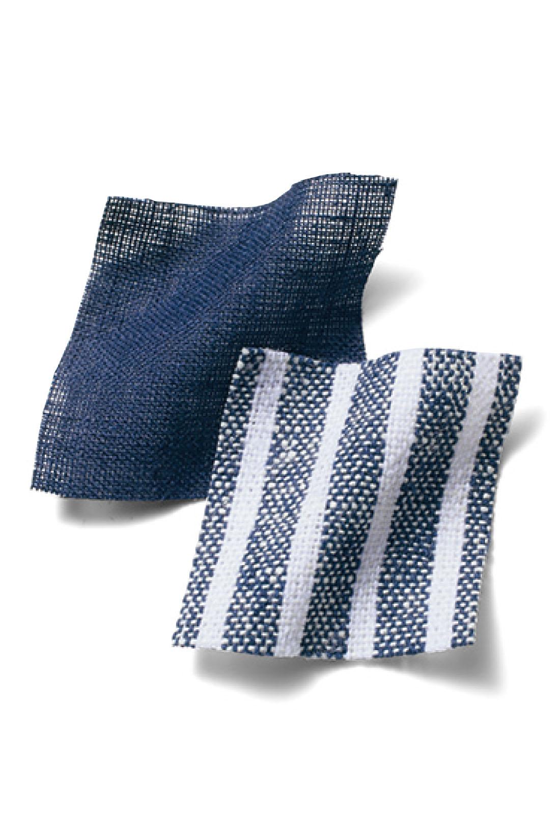 どちらも春から夏にかけてさわやかに着られるリネン混素材。リラックスした抜け感と、大人っぽい印象が演出できます。
