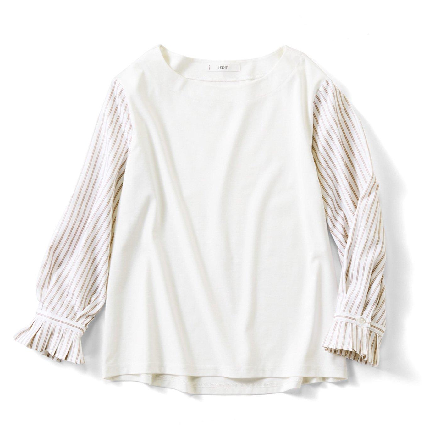 IEDIT[イディット] Tシャツ以上ブラウス未満のドッキングトップス〈ホワイト〉