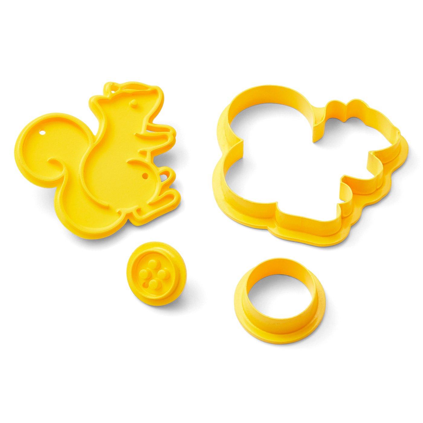 クチュリエカフェ リスとボタンのクッキー型